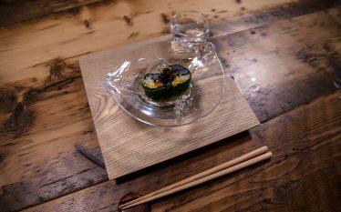 和風カラフルな一品 のどぐろ広島菜