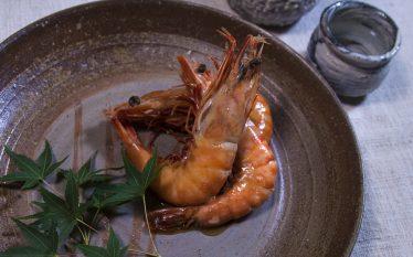 海老をまるごと甘辛く煮ました!海老の芝煮