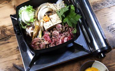 ダイレクトに肉の味を楽しむ!すき焼き関西風