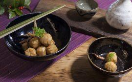 素朴な醤油味でほっこり 松笠くわい田舎煮