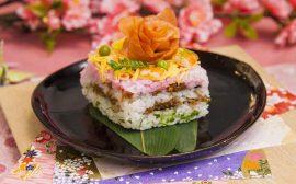 おひなさまと一緒に飾りたい!ひし形ちらし寿司