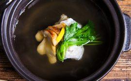 秋の旬の食材の贅沢な出会い 湯松鱧