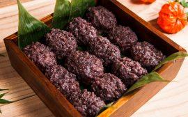 日本の伝統的な和菓子 小豆おはぎ