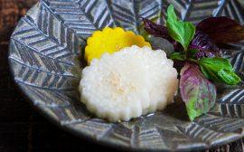 可愛らしい菊の花を食卓に!白菊長芋