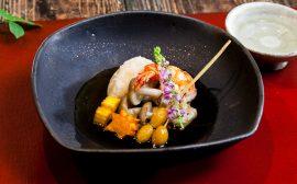 秋ならでは盛りつけを楽しみましょう!揚げ海老芋の吹き寄せ盛り
