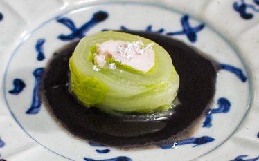 ヘルシーなおもてなし料理 白菜ささみ月環