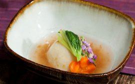 ほんのり春の香り 蟹の百合根まんじゅう