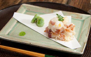 さっぱり夏の天ぷら タコの梅肉ふんわり揚げ