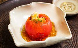 おもてなし用の可愛らしい盛りつけ!トマト釜の鮎そうめん